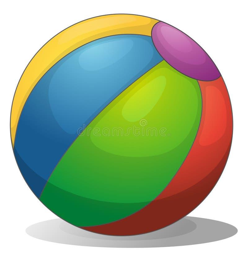 Uma bola de praia colorida ilustração do vetor