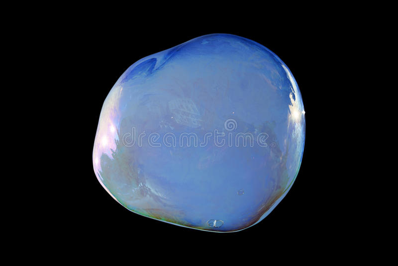 Uma bolha de sabão grande isolada Também disponível no png fotografia de stock
