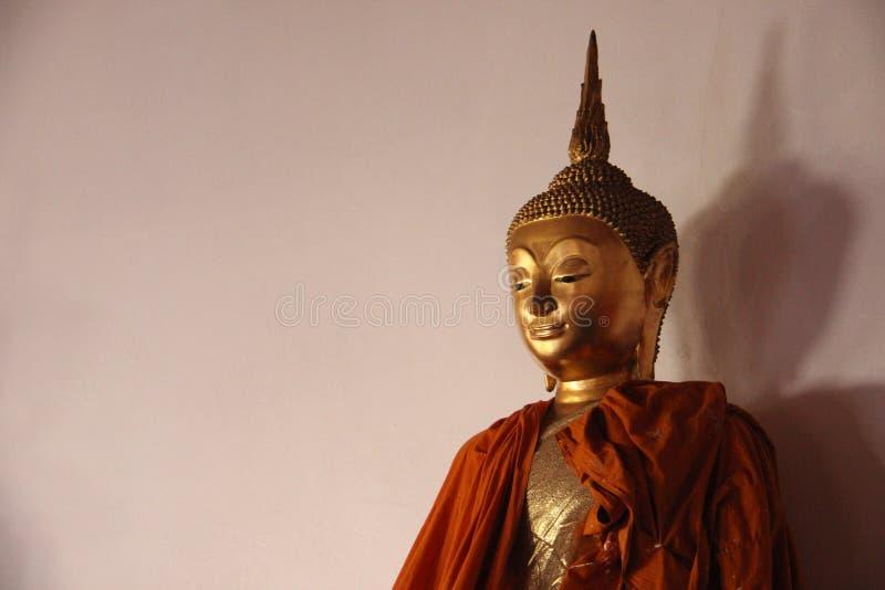 Uma Buda dourada santamente imagem de stock royalty free