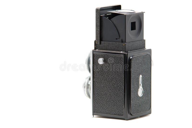 Uma câmera de reflexo gêmea clássica da lente fotografia de stock royalty free