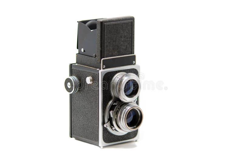 Uma câmera de reflexo gêmea clássica da lente imagem de stock royalty free