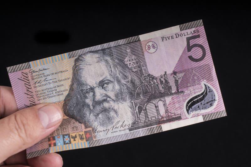 Uma cédula australiana imagem de stock royalty free