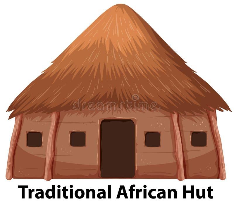 Uma cabana africana tradicional ilustração royalty free