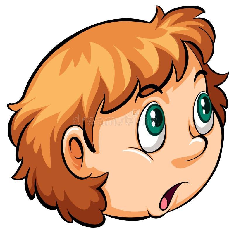 Uma cabeça de uma menina ilustração royalty free