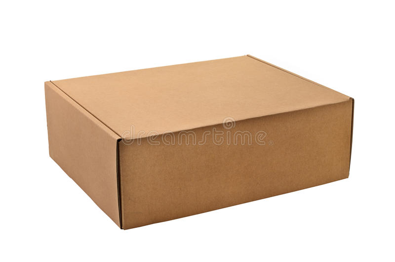 Uma caixa de cartão fotografia de stock royalty free