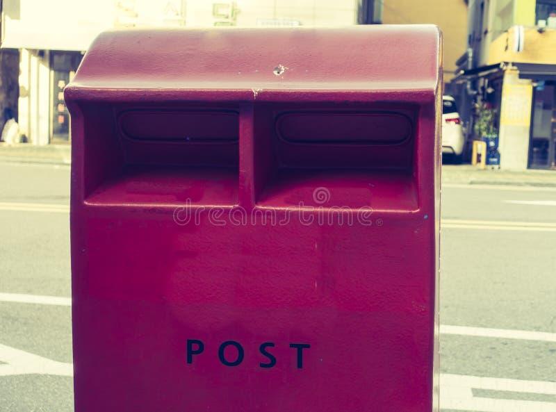 Uma caixa postal vermelha, Coreia do Sul imagem de stock royalty free