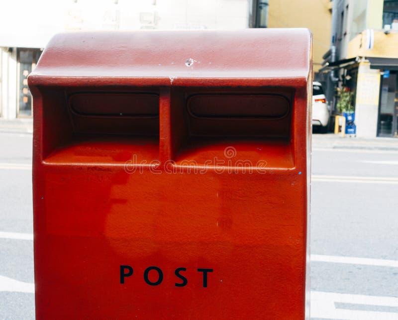 Uma caixa postal vermelha, Coreia do Sul fotos de stock