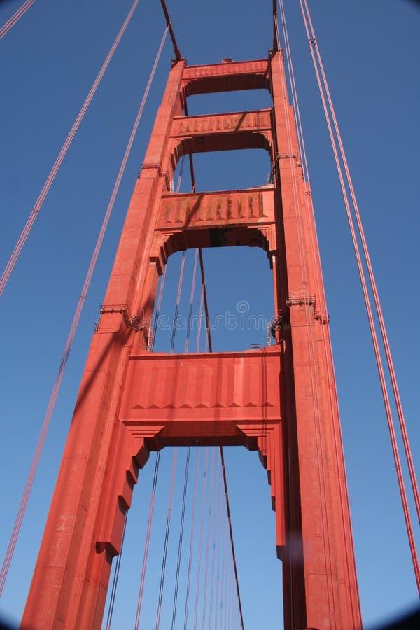 Uma caminhada ao longo de golden gate bridge foto de stock