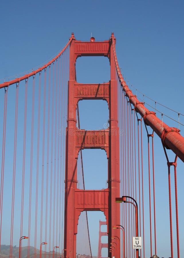 Uma caminhada ao longo de golden gate bridge fotos de stock