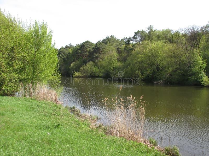 Uma caminhada sobre o rio imagens de stock royalty free