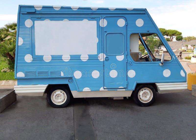 Uma camionete do gelado fotos de stock royalty free