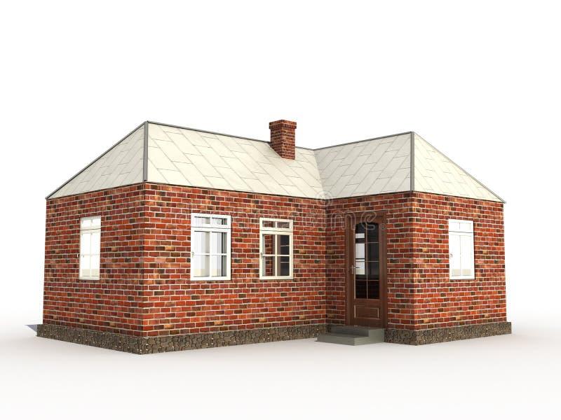 Uma casa â1 do tijolo ilustração do vetor