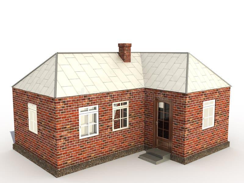 Uma casa â2 do tijolo ilustração royalty free