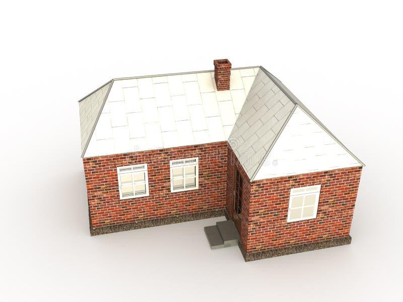 Uma casa â3 do tijolo ilustração stock
