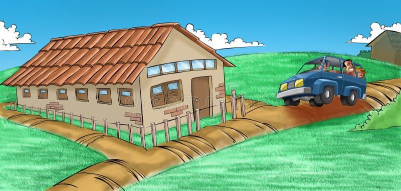 Uma casa ilustração stock