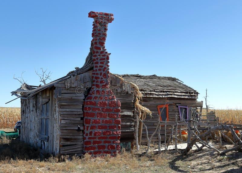 Uma casa assombrada acolhedor feliz fotografia de stock royalty free