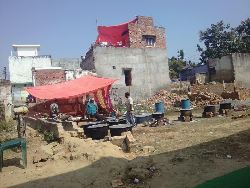 Uma casa da Índia foto de stock