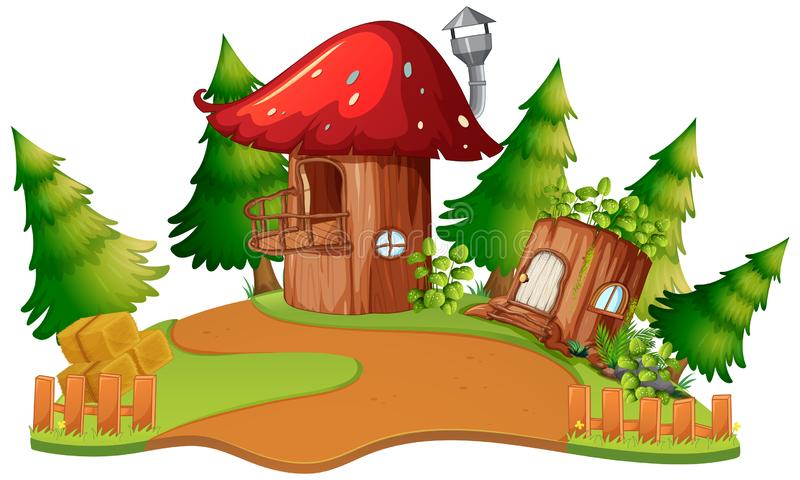 Uma casa do cogumelo da fantasia ilustração royalty free
