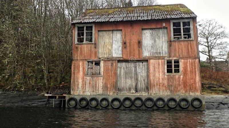 Uma casa dos vampiros, uma casa das desilusão e paixões Noruega imagens de stock royalty free