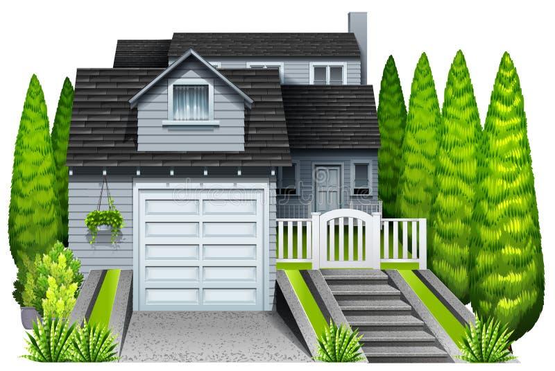 Uma casa elegante ilustração stock