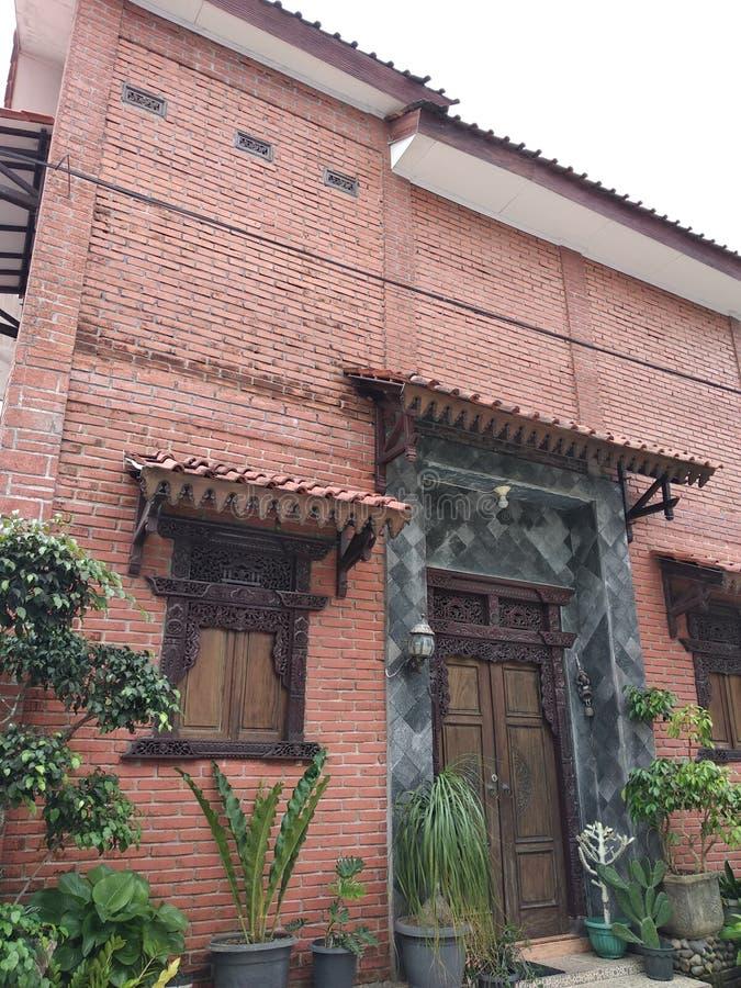 Uma casa exótica do vintage foto de stock