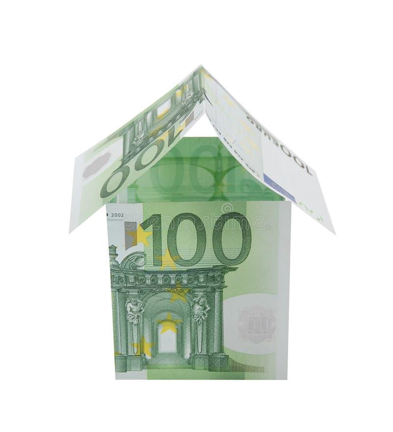 Uma casa feita do euro foto de stock royalty free