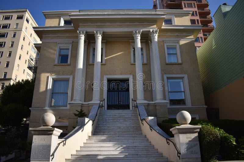 Uma casa que Rothschilds construísse em San Francisco imagem de stock