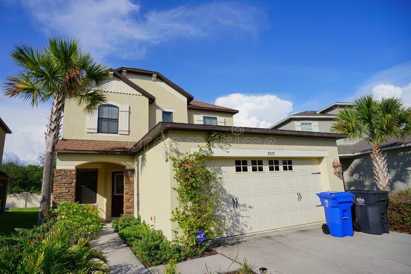 Uma casa típica em Florida fotografia de stock