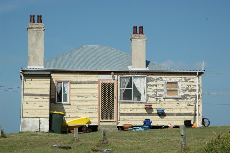 Uma casa velha da placa do tempo em Yamba, Austrália fotos de stock