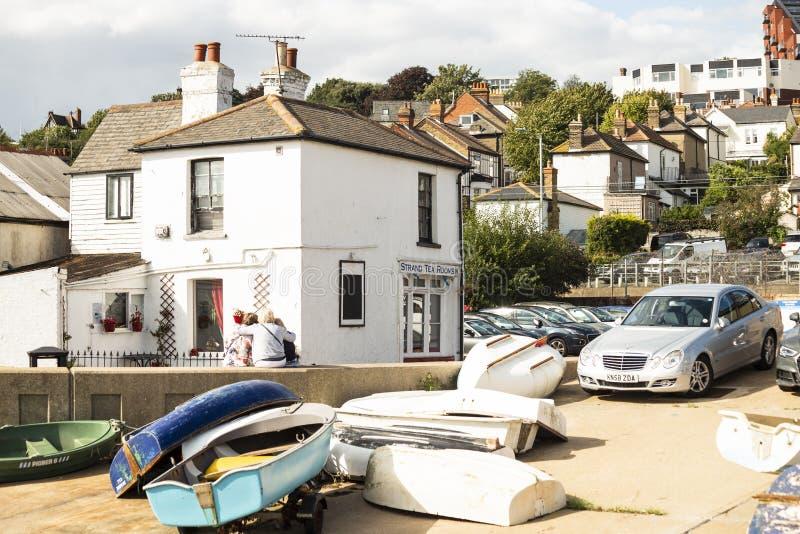 Uma cena da cidade do Leigh-em-mar em Essex, Reino Unido fotos de stock royalty free