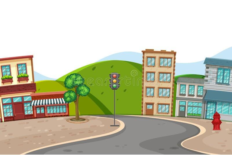 Uma cena da cidade da cidade ilustração do vetor