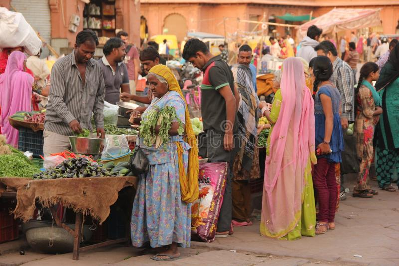 Uma cena do mercado em Jodhpur imagem de stock royalty free