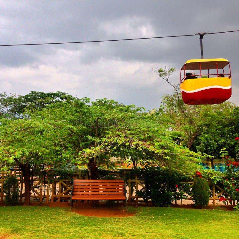 Uma cena em um parque imagem de stock