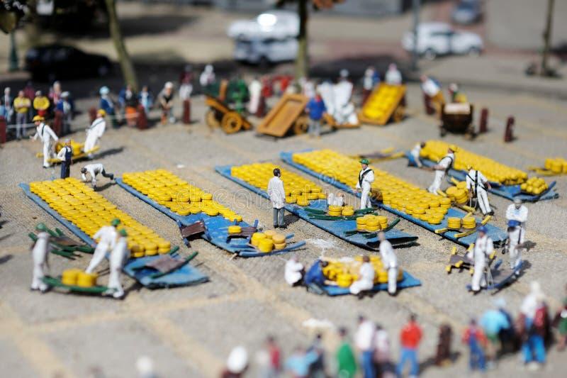 Uma cena na cidade da miniatura de Madurodam imagem de stock