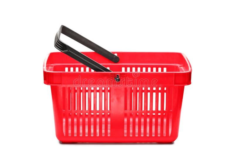 Uma cesta de compra vazia imagem de stock royalty free