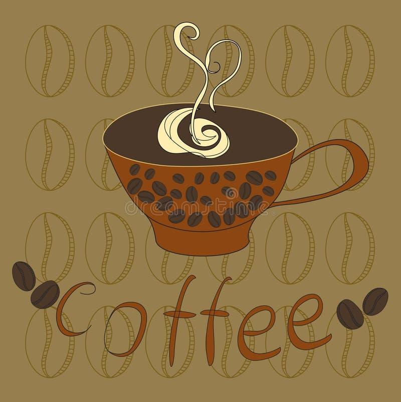 Uma chávena de café ilustração do vetor