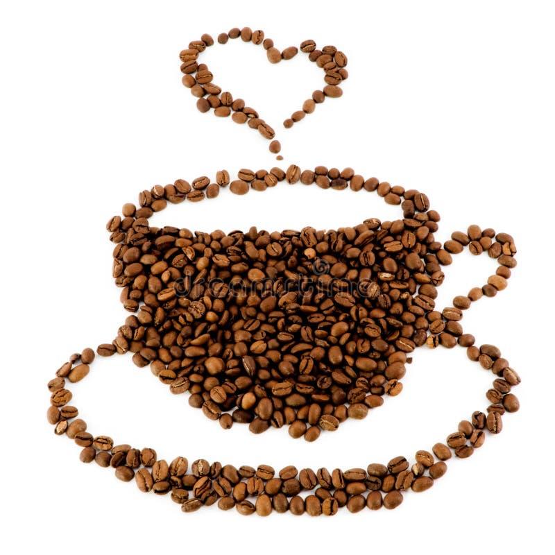 Uma chávena de café dos feijões imagem de stock royalty free