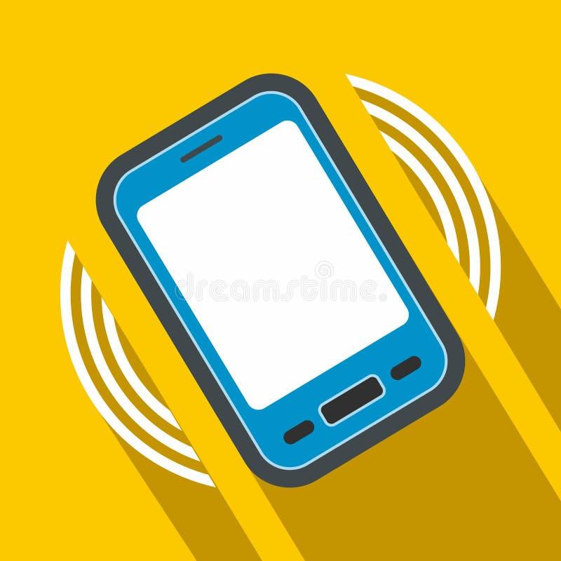 Uma chamada entrante ao ícone liso do telefone ilustração do vetor