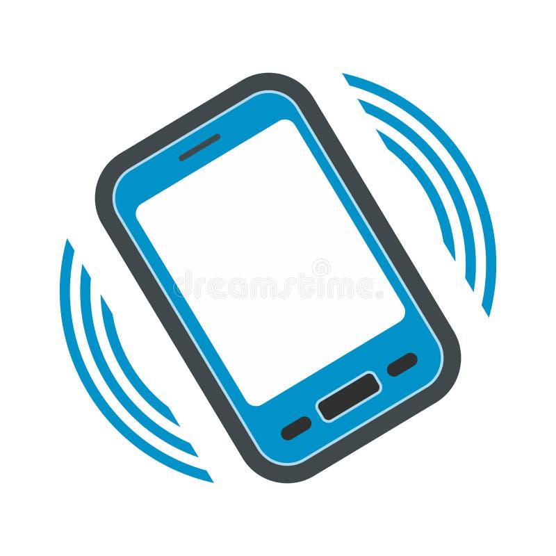 Uma chamada entrante ao ícone liso do telefone ilustração royalty free