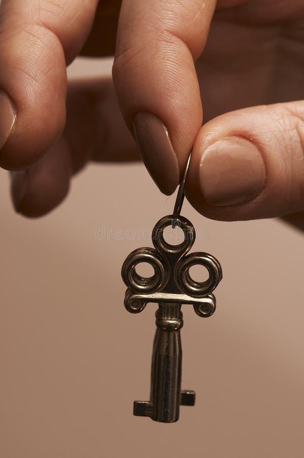 Uma chave ao smth. fotos de stock royalty free