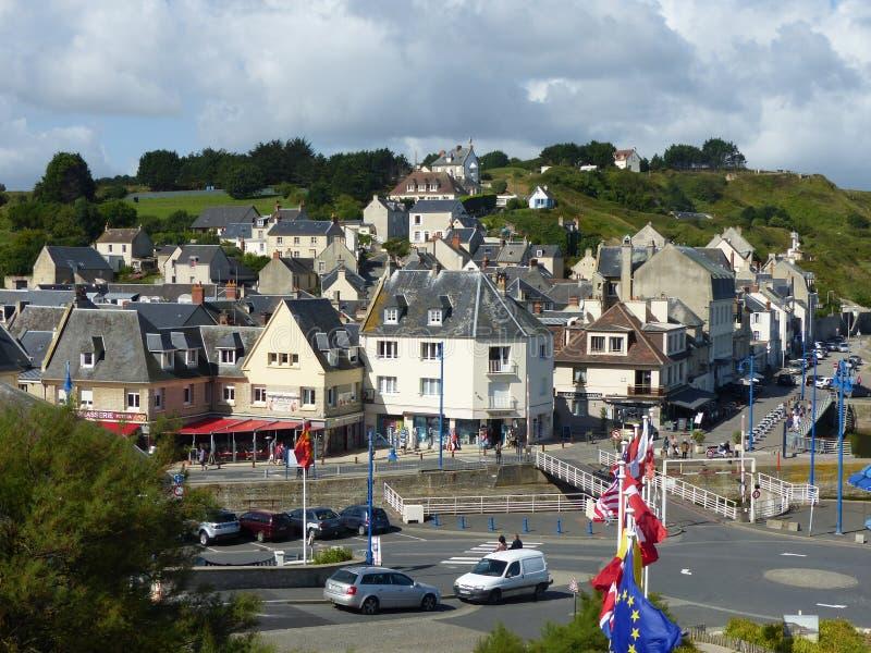 Uma cidade característica de Normandie em França imagem de stock