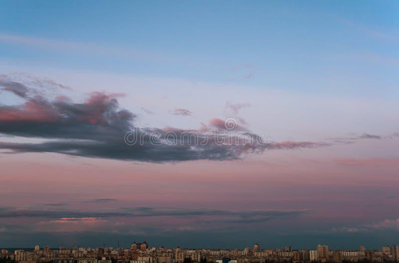 Uma cidade Cloudscape fotos de stock