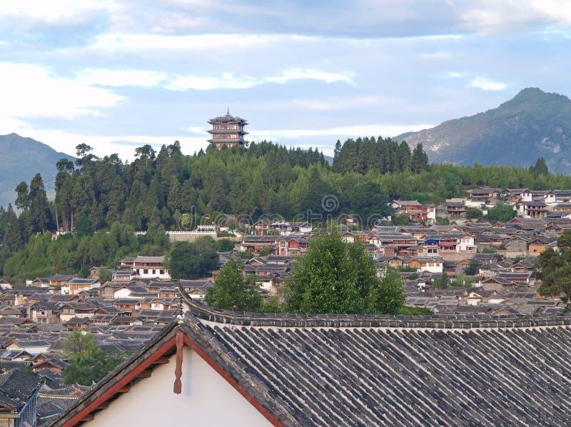 Uma cidade histórica - Lijiang imagens de stock