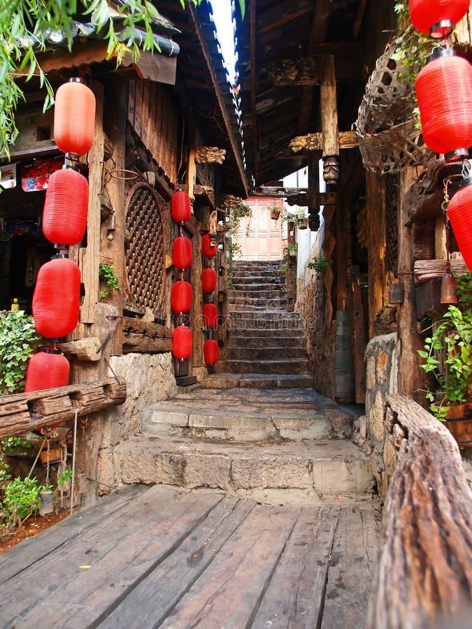 Uma cidade histórica - Lijiang imagens de stock royalty free