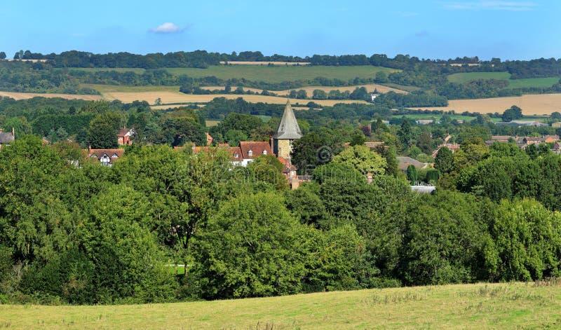 Uma cidade inglesa em Kent fotos de stock