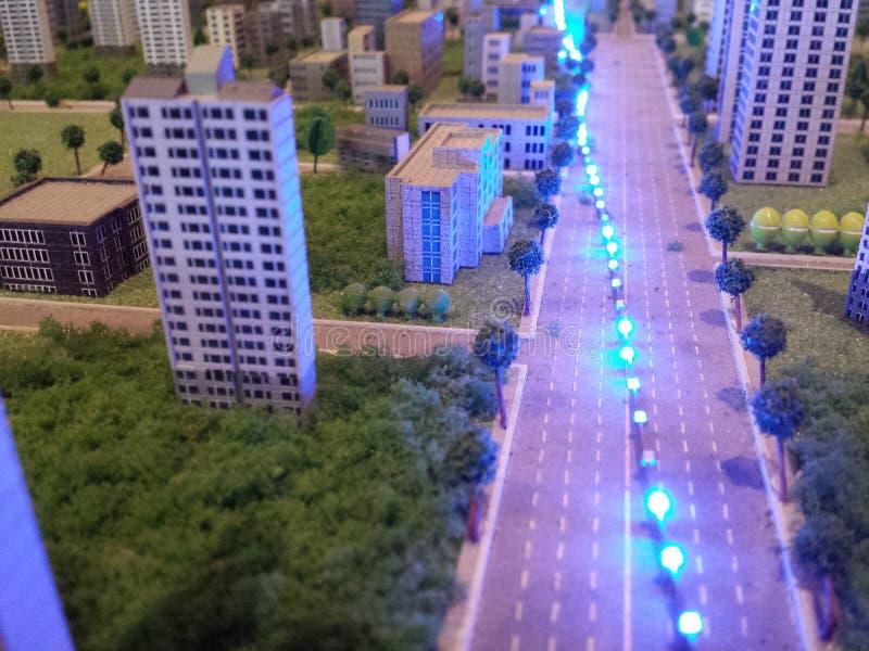 Uma cidade na miniatura foto de stock royalty free