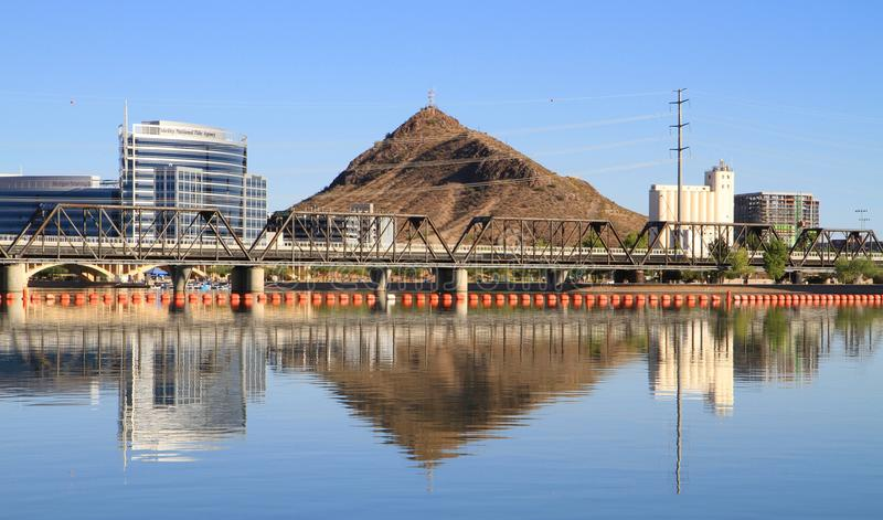 Uma cidade no deserto do Arizona: Tempe imagem de stock royalty free