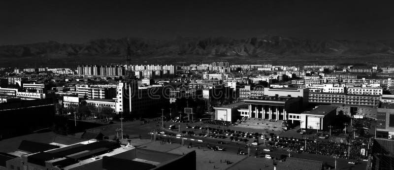Uma cidade pequena magnífica fotografia de stock