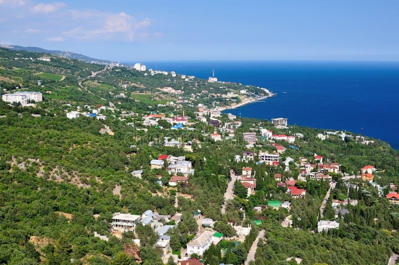 Uma cidade pequena no Mar Negro fotos de stock