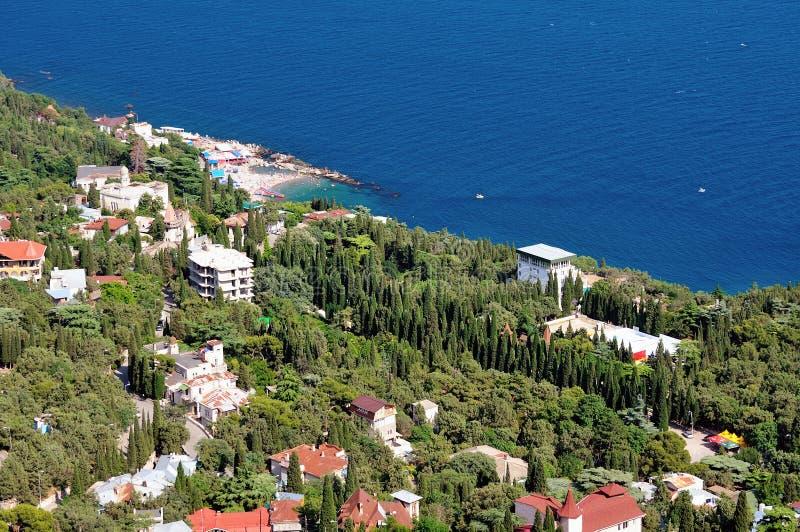 Uma cidade pequena no Mar Negro imagem de stock royalty free